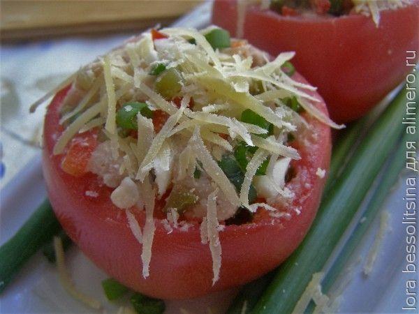 помидоры с печенью трески