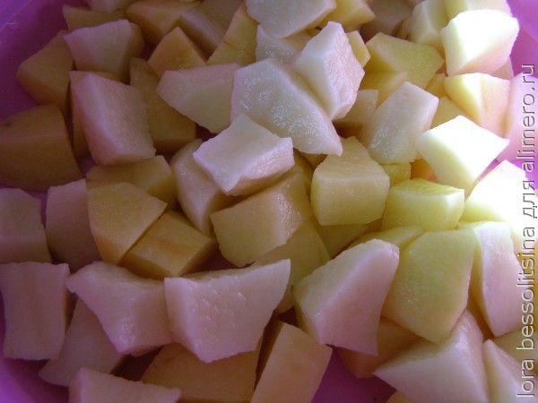 жаркое, картошка нарезана
