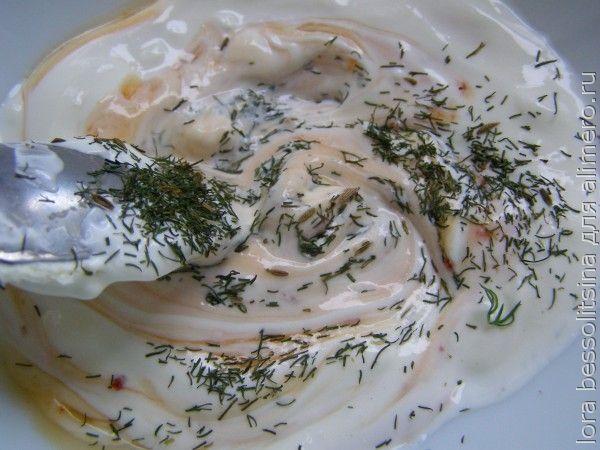 фаршированный кабачок, соус