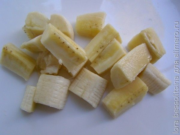 салат арбузный, банан