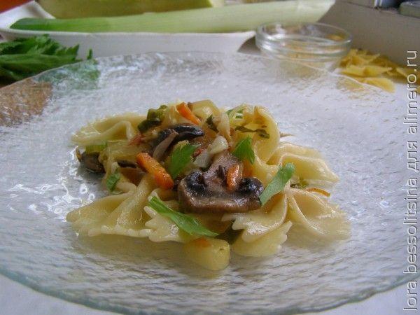 макароны с сельдереем