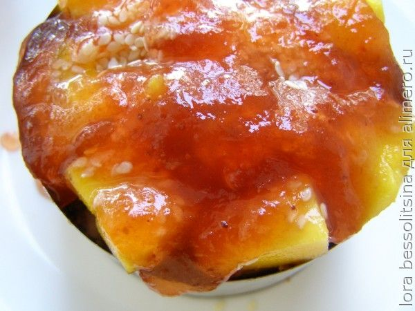 десерт с черной смородиной, джем