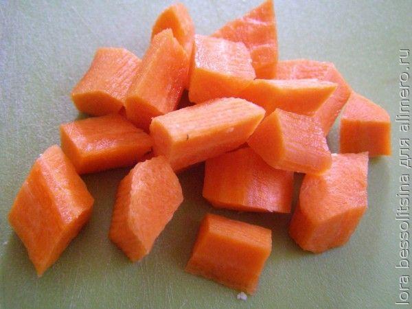 суп с бычками, морковь