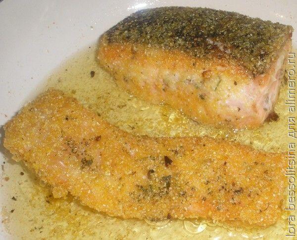 жареная форель, жарим рыбу