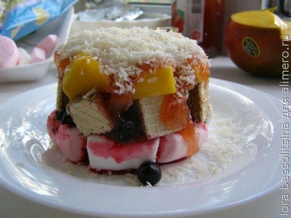 десерт с черной смородиной