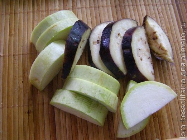рулет овощной, кабачок и баклажан