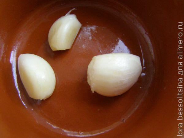 лисисчки с чесноком, чеснок