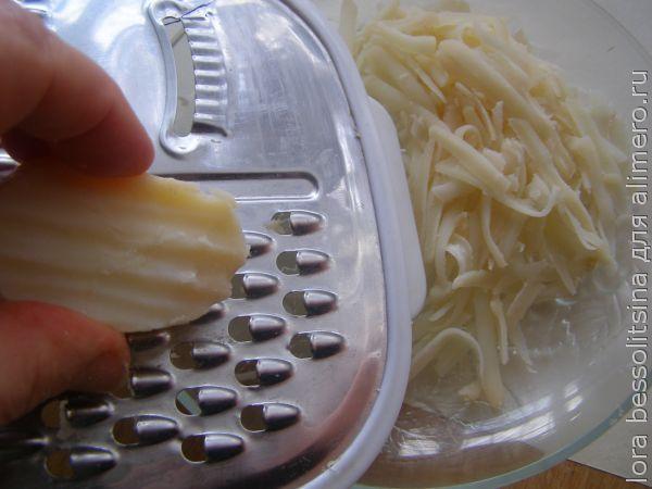 салат со шпротами, картошка