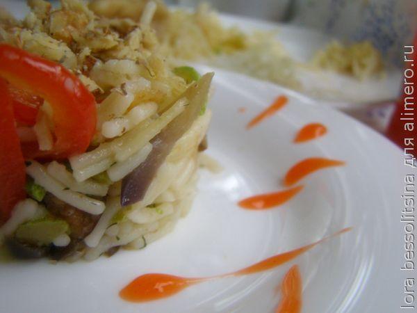 салат с вермишелью