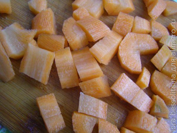 легкий суп, морковь
