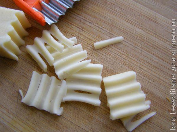 теплый салат, сыр
