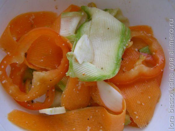 карп с овощами, овощи для гарнира