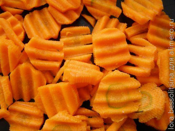 камбала с овощами, морковь