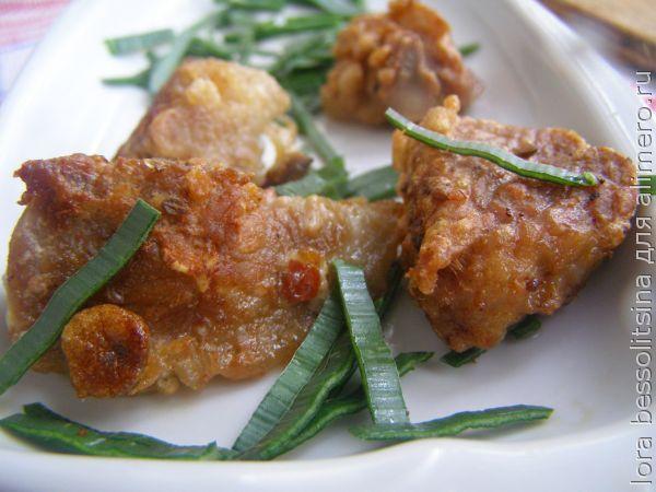 курица с подливкой на сковороде рецепты с фото