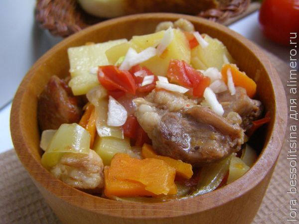 картошка тушеная с мясом рецепт