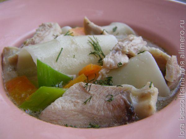 Бешбармак из курицы в мультиварке рецепты с фото
