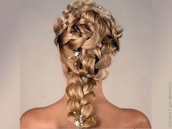 Прически с завивками на длинные волосы