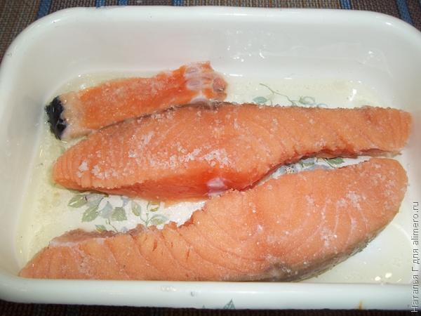 Соленная красная рыба