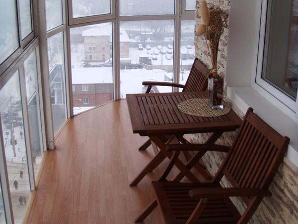 Дизайн балконов фото стекло