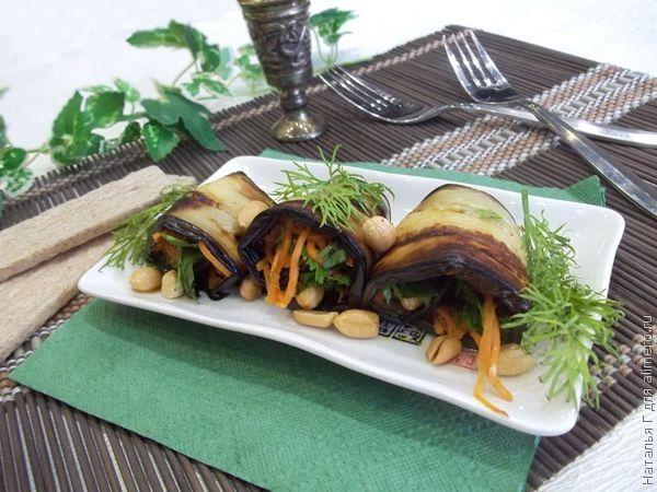 рецепт баклажанов в духовке с морковью