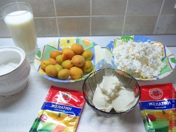 Творожено-абрикосовое желе
