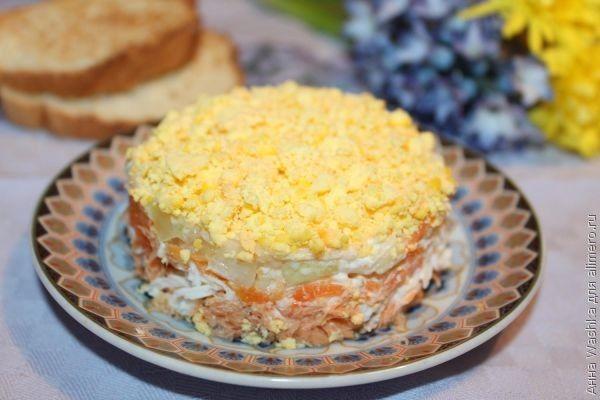 Салат мимоза рецепт с тунцом консервированным