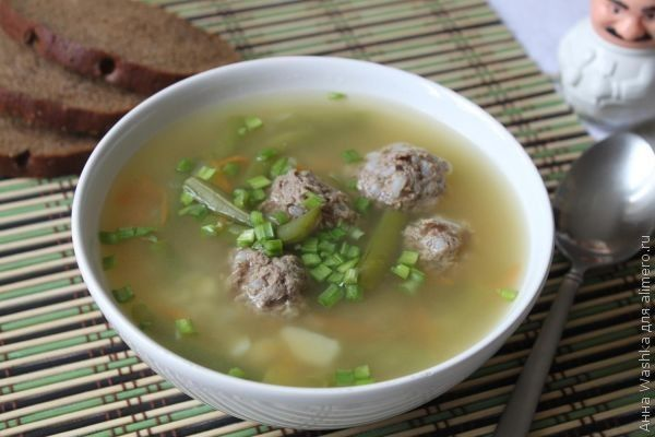 рецепты супов с фото с фрикадельками