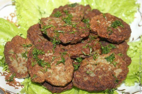 рецепт оладий из печени говяжьей рецепт с фото