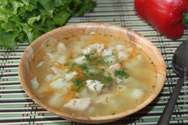 суп с консервированной горбушей рецепт с фото