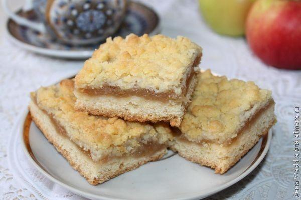 Немецкий вкусный пирог с яблоками «Кухен»
