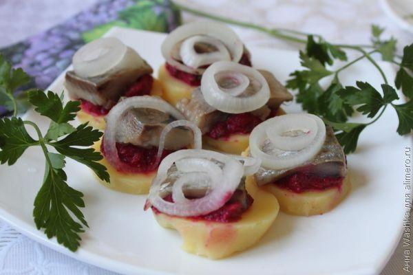 рецепты селедки с картошкой в духовке