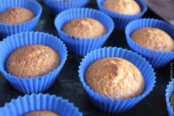 Рецепт лимонных кексов в силиконовых формочках с пошагово