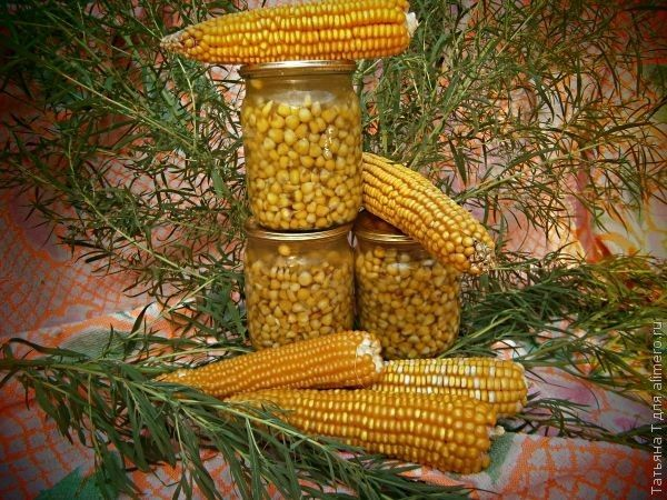 """Консервированная кукуруза """"по-домашнему"""""""