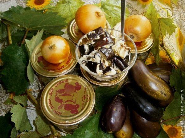 """Салат из баклажанов с майонезом """"Грибной вкус"""""""
