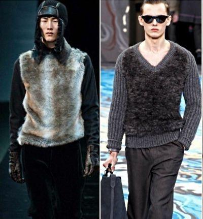 Меховые вставки. Вероятно такие модели для людей экстравагантных и следующих модным тенденциям.