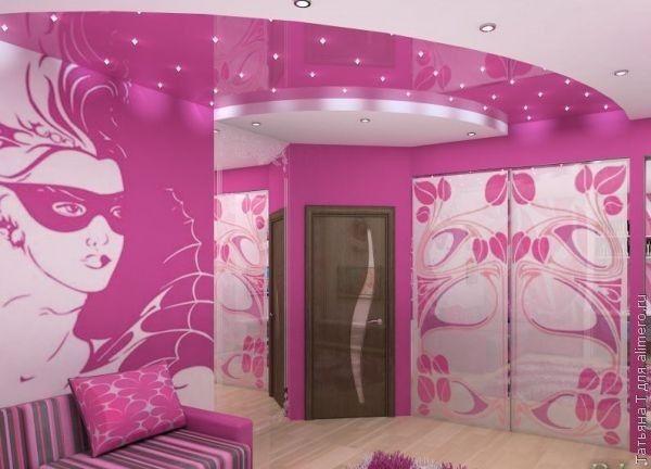 Сочный розовый цвет – для гламурных модниц. Для тех, кто не боится выделяться в толпе и в своей комнате мечтает создать  уютный, стильный уголок.