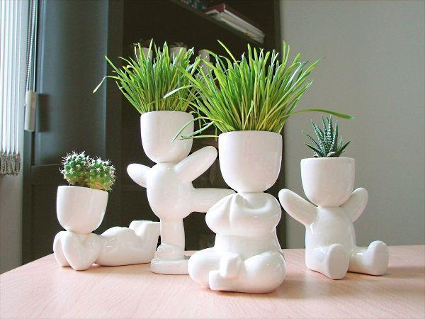 25 оригинальных идей дизайна цветочных вазонов