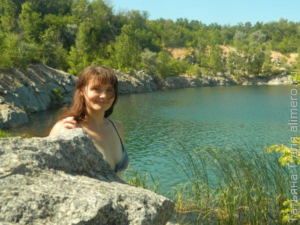 Озеро, девушка