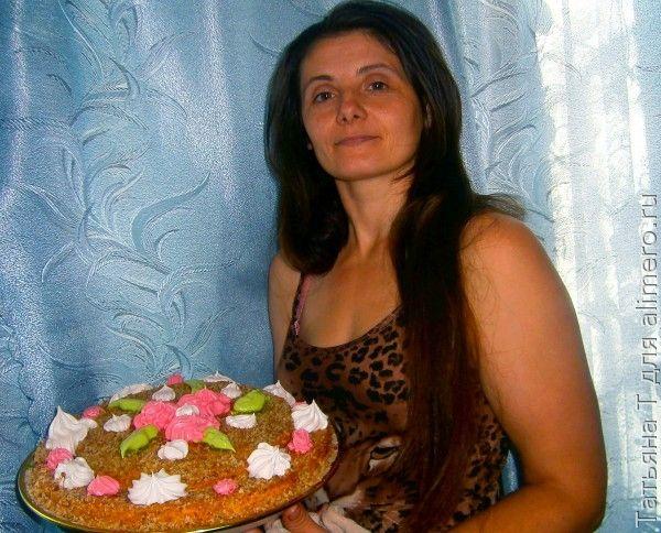Торт, девушка