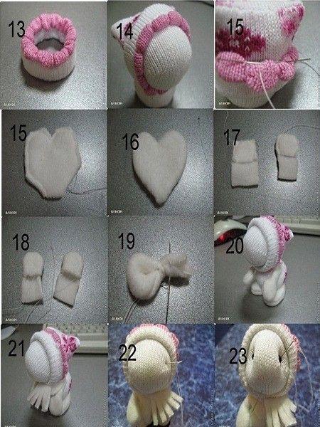 Игрушки из носочков