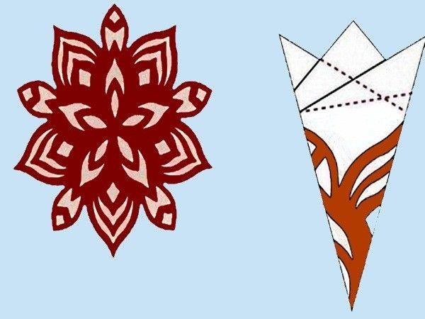 Схемы бумажных снежинок