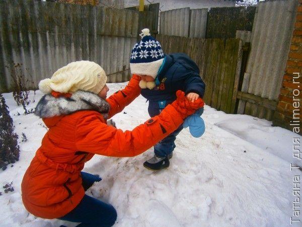 Зимние игры детей