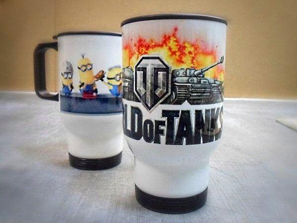 Чашка с логотипом игры - для заядлого танкиста