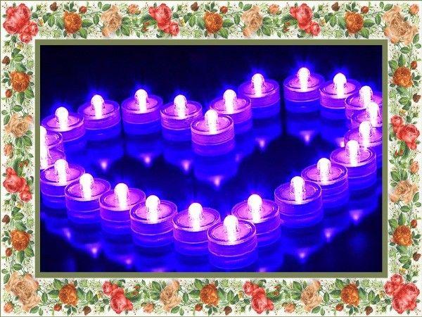 Водостойкие свечи - романтической и нежной.