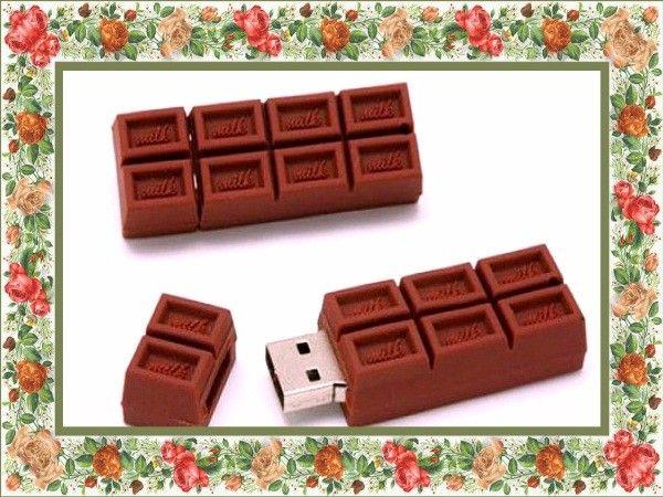 Флешка-шоколадка - родной программистке.