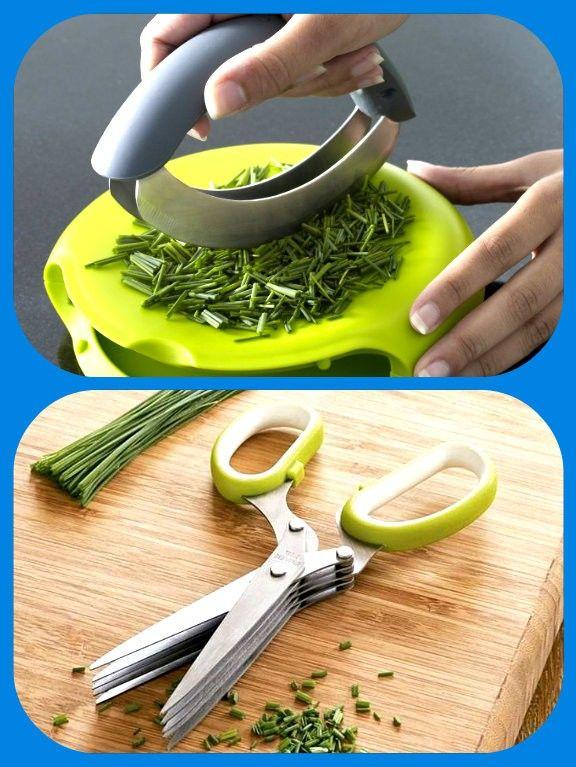 Нож и ножницы для зелени.