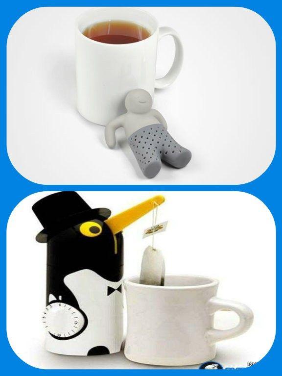 Ситечко для чая «Мистер Заваркин», и пингвин-заварник с таймером.