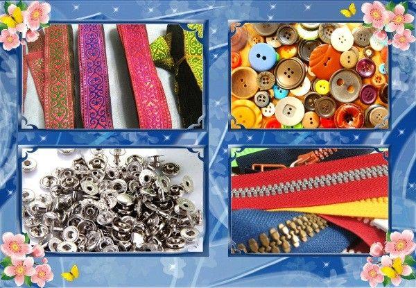 Шитье. А на завершающем этапе понадобятся такие важные мелочи как тесьма или косая бейка, пуговицы, кнопки и крючки, застежки-змейки.