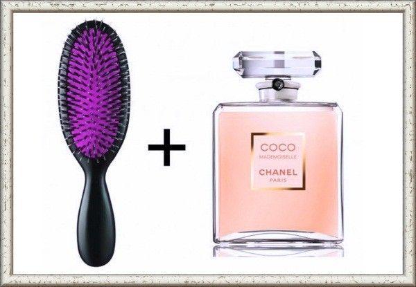 Пара капель духов на расчёску, и шлейф любимого аромата всегда будет на ваших волосах.