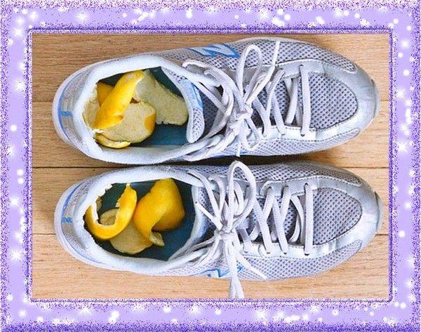 19. Освежитель для обуви. Если в спортивную обувь положить лимонные шкурки, то она приобретёт чудесный запах.